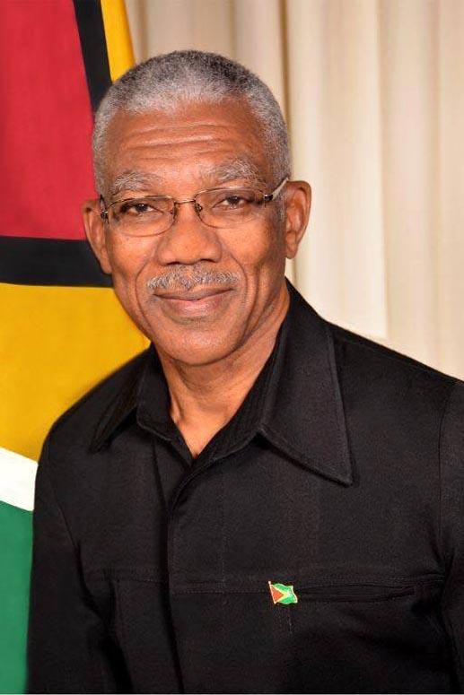 Brigadier David Arthur Granger, MSM, MSS President of the Cooperative Republic of Guyana