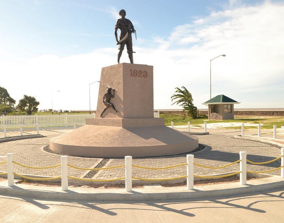 Monument. Demerara Revolt 1823